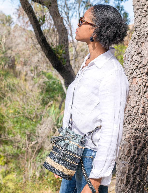 Sac Addis en raphia de Madagascar, Lookbook Sans Arcidet Paris