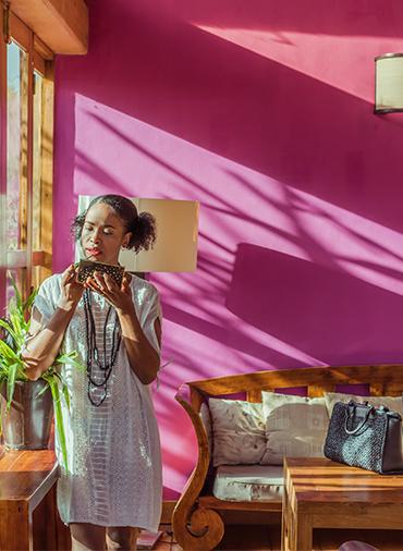 Sac en raphia de Madagascar, Lookbook Sans Arcidet Paris