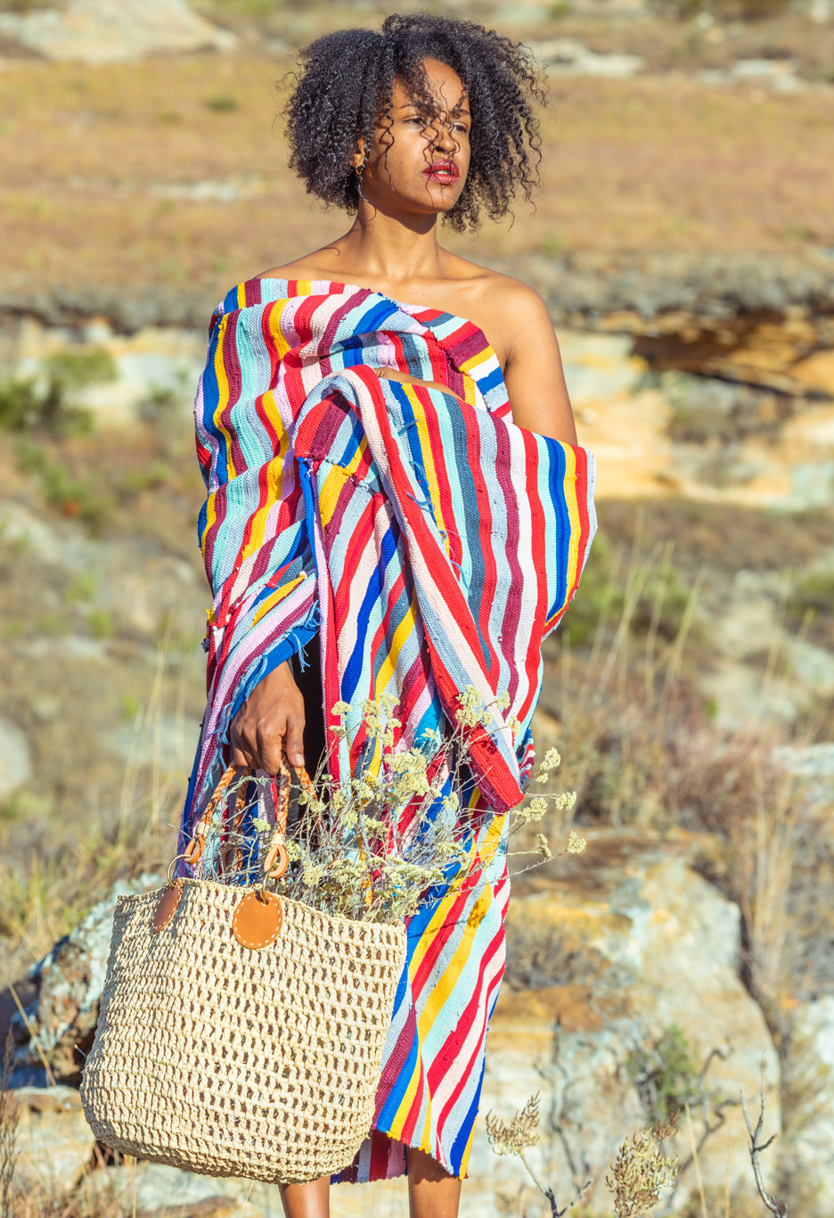 Sac en raphia de Madagascar, Lookbook Sans Arcidet Paris