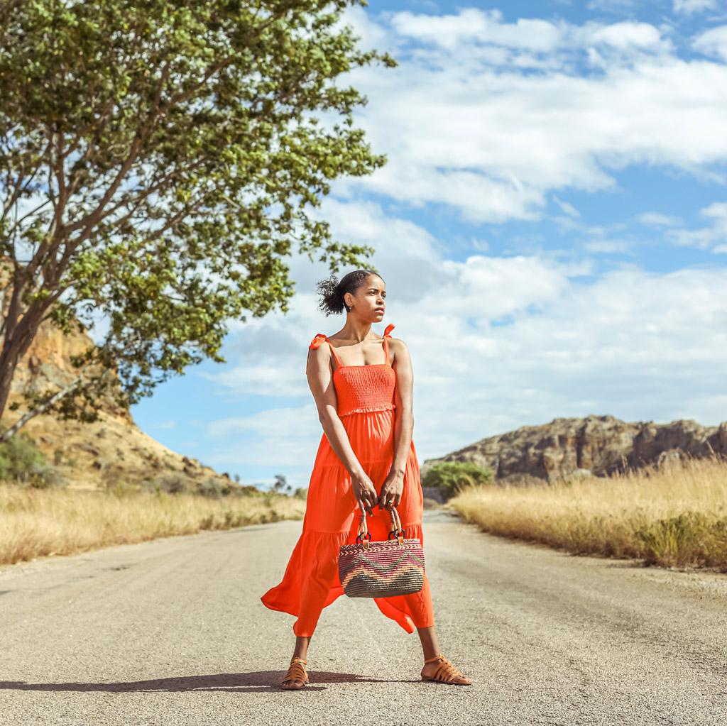 Sac Shay en raphia, Lookbook Sans Arcidet Paris